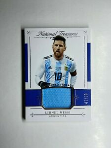 2018 National Treasures Lionel Messi JERSEY PATCH /99 GOAT 🐐 📈
