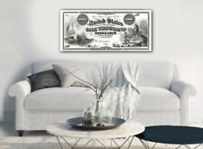 """Large Poster $1000 Legal Tender, Columbus/Indians 16""""x 40"""" Printed on Canvas"""