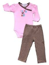 "Mon Caramel 2-pc Bodysuit & Pants Set Baby Girl Clothes ""Daddy Love's Me"", 3 mos"