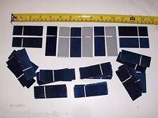 """45 1"""" x 3"""" solar cells .5 V x  .5 A  = 9  watt panel  using 36  great mini panel"""