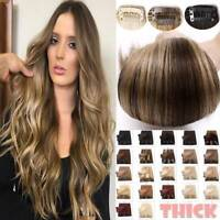 170G Thick Double Weft Clip In Remy Human Hair Extensions Full Head Highlight US