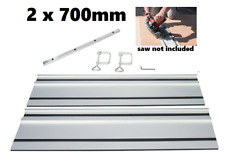 2 x 700mm Plunge Circular Saw Guide Rail Track Fits Bosch Makita others
