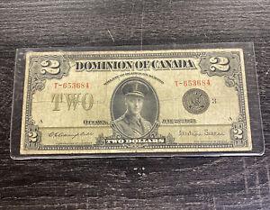 1923 $2 Dominion Canada Large Size Note Ottawa