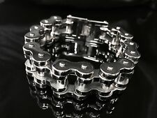 200 gram Silver Classic Bike Chain Bracelet for Harley Davidson Biker Amazon 85