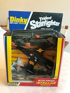 Vintage 1970s Dinky 362 Trident Starfighter boxed with firing missiles (working)
