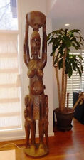 Incredible & Rare African Carving - Woman, Baby, Two Children - Almost 8' Tall!