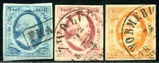 NIEDERLANDE 1852 1-3 gestempelt TADELLOS sehr schön 200€+(A9282