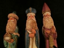 Early Jim Shore Christmas Nativity Wisemen 3 Kings Resin Figurines 1990 Lot of 3
