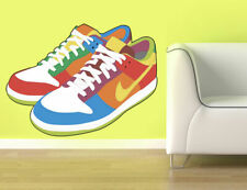 ced387 Full Color Wall decal Sticker sneakers shoes bedroom kids nursery