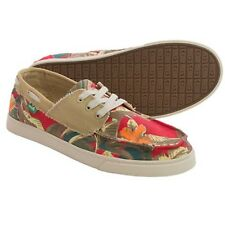 SANUK MEN'S TROPICAL SHIPWRECKED LACE SHOES RED TROPICAL 9 NIB $60 LIST