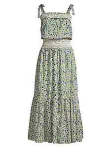 NWT Tory Burch Smocked Floral Maxi Dress Cover up Small $448