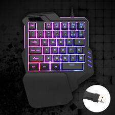 One-handed Gaming Keyboard Mechanical Ergonomic Game Keypad 35Keys LED Backlit