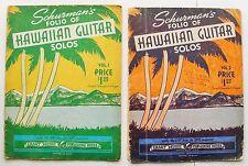 1930 SCHURMANs HAWAIIAN GUITAR SOLOS 2 vols steel slide High Bass tuning Amaj