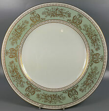 Wedgwood Gold Columbia Sage Green Gold Trim Dinner Plate 10 3/4""