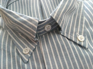 NWOT Brooks Brothers Green Ground Stripe Button Down 15.5-34 Milano    MSRP $140