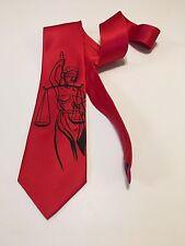 Temida Necktie, Lawyers, Lady Of Justice Tie, Classy And Cool