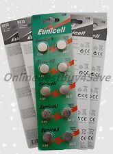 10 piece AG13 LR44 G13 LR1154 SR44 357A 357 Card 1.5V Alkaline battery