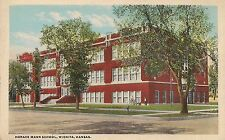 Horace Mann School in Wichita KS Postcard