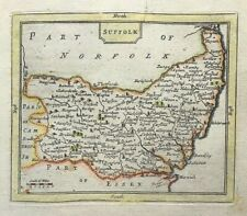 Antique Map of Suffolk c1777 by John Seller & Grose original hand colour