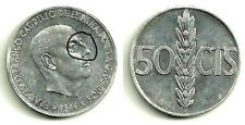 (ERROR COIN) ESTADO ESPAÑOL. 50 CÉNTIMOS DE 1966 (PEGOTE DE METAL)