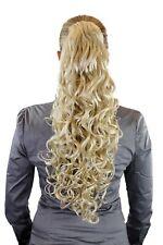 Volumineux Amples Postiche Tresse Bouclée Très Long Blond Platine 60 Cm N310-613