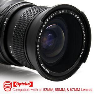 Opteka .35x Wide Angle Fisheye Lens for Canon 52mm 58mm 67mm Threaded Lenses
