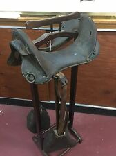 Antique Military Officers Leather Calvary Horse Saddle 1904 11 ½""