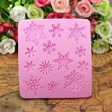 Snowflake Lace Christmas Silicone Mould - Frozen Party Cakes Sugarcraft Fondant