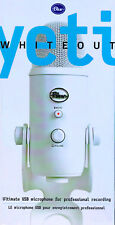 Blue Yeti Ultimate USB Microphone for professional recording  /White NEW