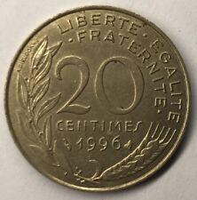 F.156 Monnaie Française 20 Centimes Marianne 1996 Achat Unitaire