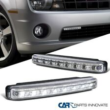 2x 6000K Bright Xenon White 8-LED Lights Chrome Fog Lamps 4W