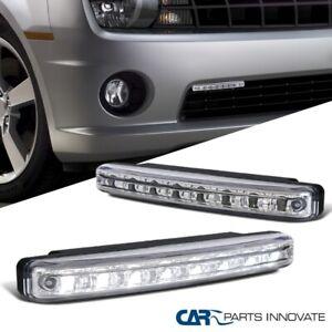 2x 6000K Bright Xenon White 8-LED Lights Chrome Fog Lamps 4W