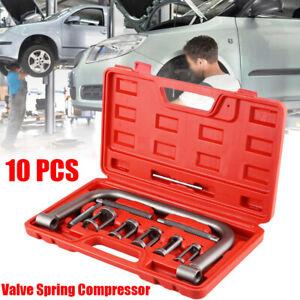 10 Pc Universal Car Vans Motorcycle Valve Spring Clamps Compressor Tools Bit Set