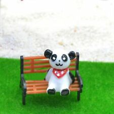Mini Garden Ornament Miniature Park Seat Bench Design Fairy Dollhouse Decor 1PC
