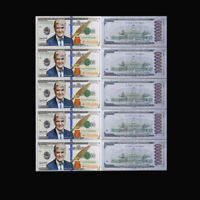 5pcs/lot Silver Banknotes Dollar Foil Money Paper Us Donald Trump Note Bill