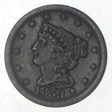 1853 Braided Hair Half Cent - Jefferson Coin Collection *732