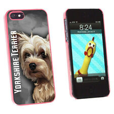 Yorkshire Terrier - Yorkie Dog Pet Protective Case for Apple iPhone 5 5S - Pink