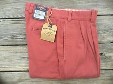 BRAND NEW - Bills Khakis Red M2 Pleated Front WRVT - Size 31- MSRP $165
