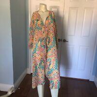 Lularoe Shirley Kimono Large Multicolor Chiffon Like Coverup Sz  Large Gorgeous!
