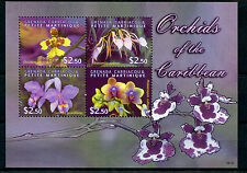 Grenadines of Grenada 2009 MNH Orchids of Caribbean 4v M/S Flowers Stamps