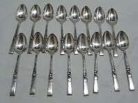 "Lot of 16 Vintage 6 1/8"" 5 o'clock Spoons Community Silver Plate Morning Star"