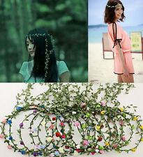 cute Flowers Crown Headband Hair Garland Bride Wedding Headwear Accessories