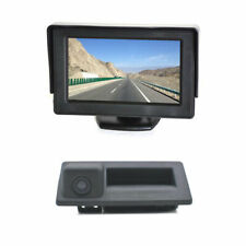 Backup Camera + 4.3 Inch Rear View Monitor For Audi A4 A6 A8L S5 Q3