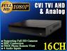 HD 16CH DVR XVR for AHD CVBS CVI TVI Cameras NEW Solution HD 1080P free P2P DDNS