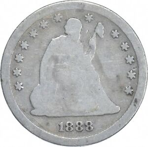 1888-S Seated Liberty Quarter - Charles Coin Collection *892