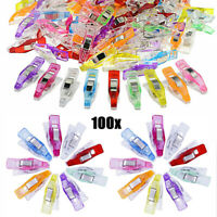 100x Plastic Magic Clips Fabric Quilting Tool Craft DIY Sewing Knitting Crochet