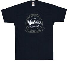 NEW Modelo Especial Beer Tee Shirt Unisex Size M Blue