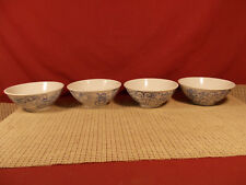 """Boston Warehouse Canton Express Double Happiness Set of 4 Rice Bowls 5 1/8"""""""