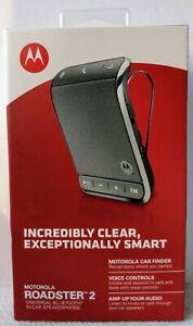Motorola Roadster 2 Wireless In-Car Speakerphone 89556N Bluetooth Speaker Sealed