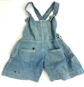 Vintage Selvedge Denim 30s-40s Homemade Baby Jean Overalls